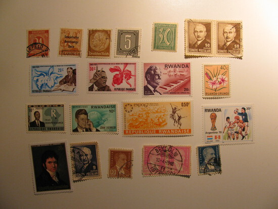 Vintage stamps set of: Rwanda, Turkey & Germany