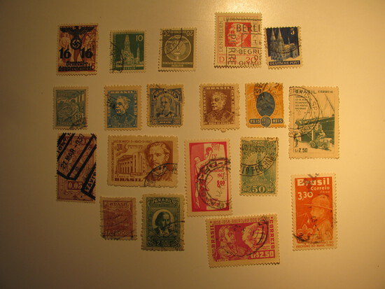 Vintage stamps set of: Germany & Brazil
