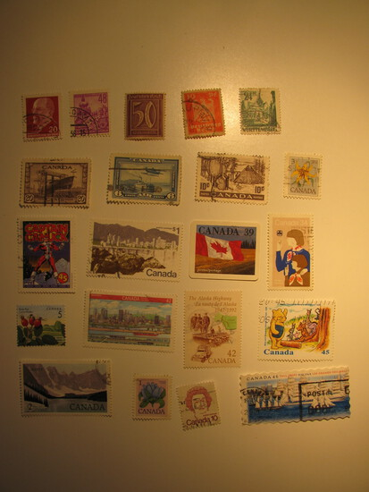 Vintage stamps set of: Germany & Canada