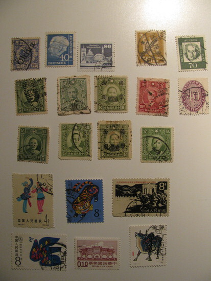 Vintage stamps set of: China & Germany