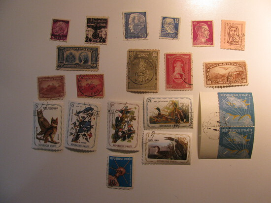 Vintage stamps set of: Haiti & Germany