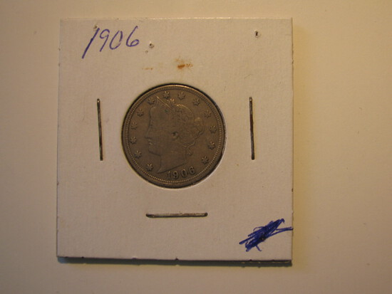 US Coins: 1906 Liberty V 5 cents