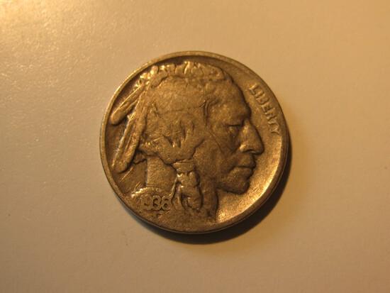 US Coins: 1936 Buffalo 5 Cents