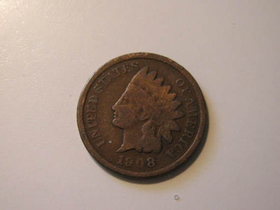US Coins: 1908 Indian Head