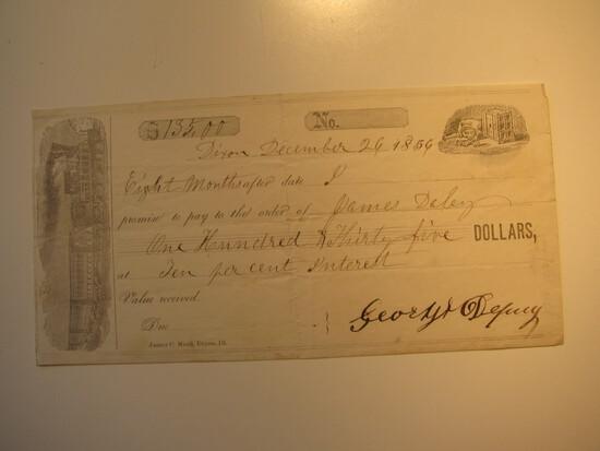Promissory Note: 1856
