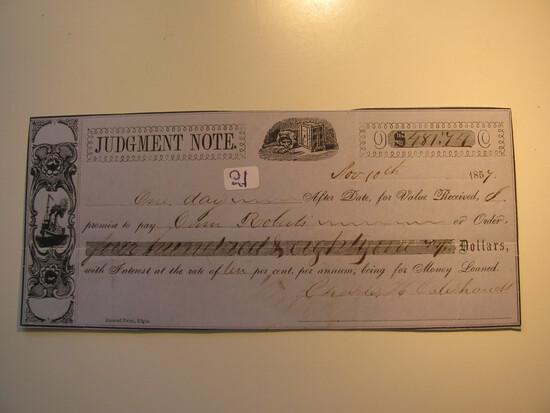 Judgement Note: 1857