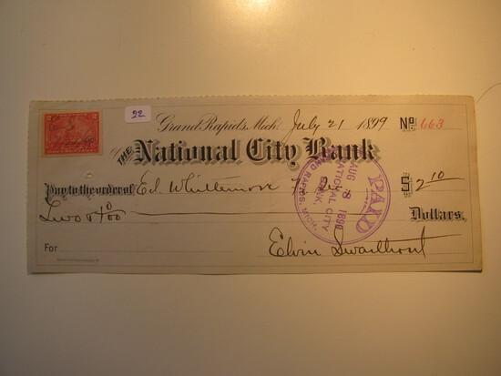 Vintage Check: 1899 National City Bank