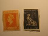 2 Netherlands Unused  Stamp(s)