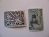 2 Nyasaland Unused  Stamp(s)