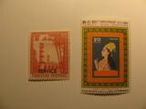 2 Pakistan Unused  Stamp(s)
