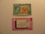 2 Pitcairn Islands Unused  Stamp(s)