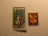2 Reunion Unused  Stamp(s)