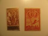 2 Spain Unused  Stamp(s)