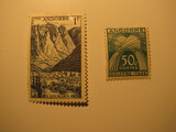 2 Andorra Unused  Stamp(s)