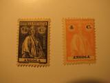 2 Angolia Unused  Stamp(s)