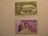2 Brunei Unused  Stamp(s)