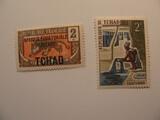 2 Chad Unused  Stamp(s)