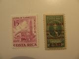 2 Costa Rica Unused  Stamp(s)