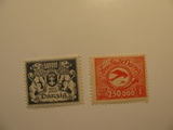 2 Danzing Unused  Stamp(s)