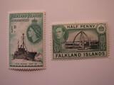 2 Falkland Islands Unused  Stamp(s)