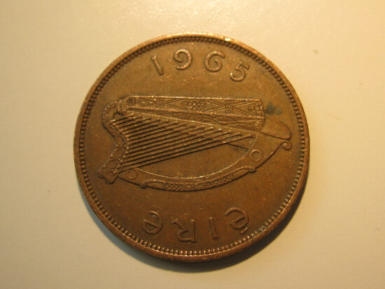 Foreign Coins:  1965 Ireland 1 Pence