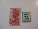 2 Ivory Coast Unused  Stamp(s)