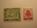 2 Lebanon Unused  Stamp(s)