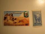 2 Madagascar Unused  Stamp(s)