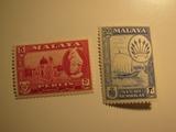 2 Malaya Unused  Stamp(s)