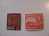 2 Malta Unused  Stamp(s)