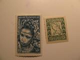 2 Martinique Unused  Stamp(s)
