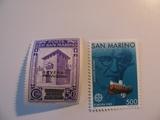 2 San Marino Unused  Stamp(s)