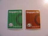 2 Singapore Unused  Stamp(s)