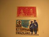 2 Swaziland Unused  Stamp(s)