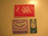 2 Tristian De Chua Unused  Stamp(s)