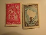 2 Argentina Unused  Stamp(s)