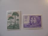 2 Chile Unused  Stamp(s)