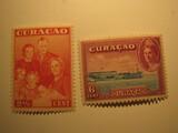 2 Curacao Unused  Stamp(s)