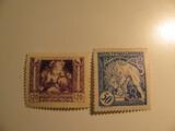 2 Czechoslovakia Unused  Stamp(s)