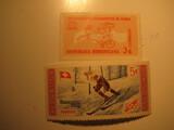 2 Dominican Republic Unused  Stamp(s)