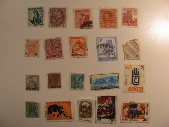 Vintage stamps set of: Austria & India