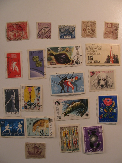Vintage stamps set of: Japan, Jamaica & Poland