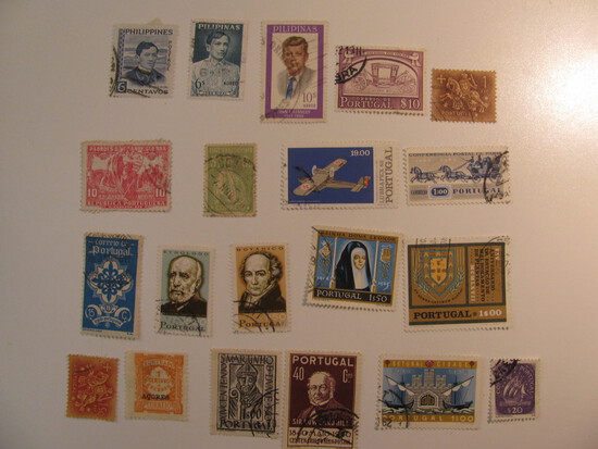 Vintage stamps set of: Portugal & Philippines