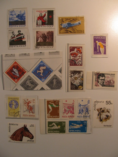 Vintage stamps set of: Romania & Russia / USSR