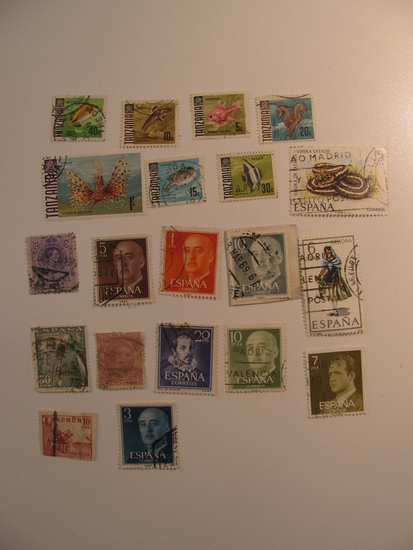 Vintage stamps set of: Spain & Tanzania