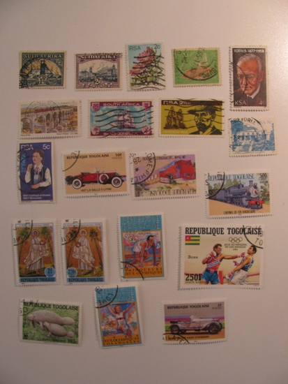 Vintage stamps set of: South Africa & Togo