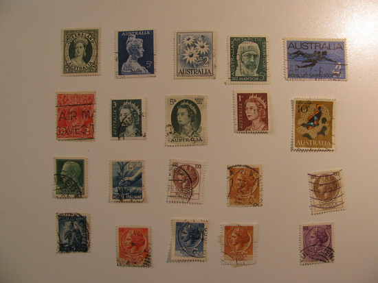 Vintage stamps set of: Australia & Italy