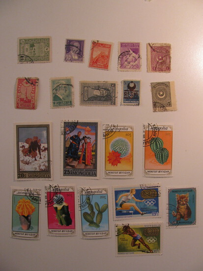 Vintage stamps set of: Turkey & Mongolia