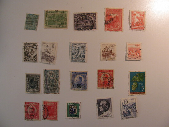 Vintage stamps set of: Tasmania & Yugoslavia