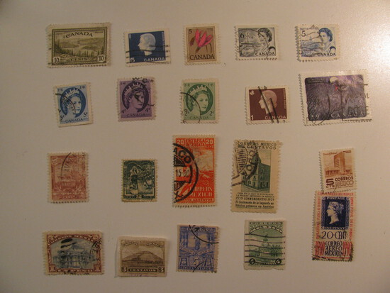 Vintage stamps set of: Canada & Mexico